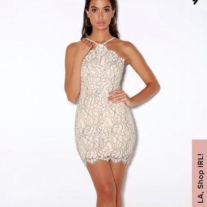 Lulus NWOT white lace dress
